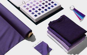 Ultra violeta en los tejidos de moda.